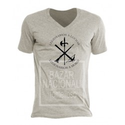 Camiseta Color Gris Legión en Negro