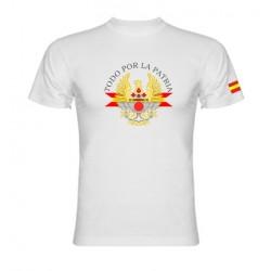 Camiseta Blanca Ejércitos de España en el Centro