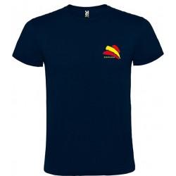 Camiseta Azul Marino España Bolsillo