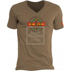 Camiseta Color Tabaco Emblema Legión Española Central