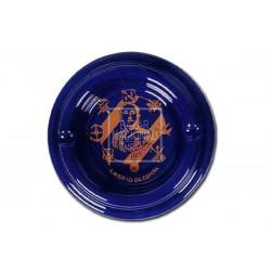 Cenicero Azul Cobalto Borde redondeado Francisco Franco