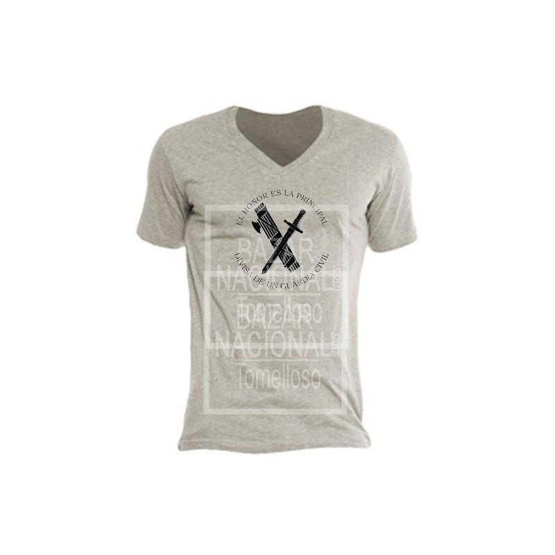 Camiseta Color Tabaco Guardia Civil en Negro
