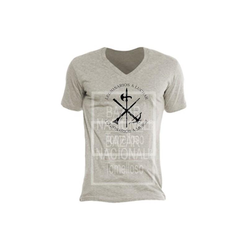 Camiseta Color Tabaco Legión en Negro