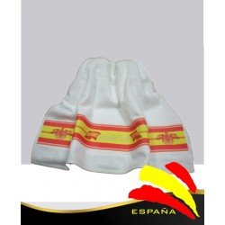 Toalla Blanca de Lavabo Bandera España