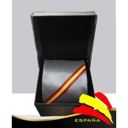 Corbata gris Bandera España