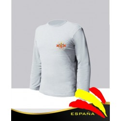 Camiseta Blanca Manga Larga Águila