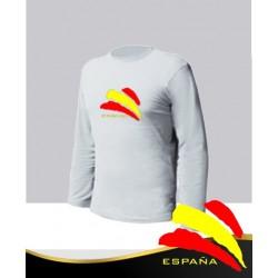 Camiseta Blanca Manga Larga España