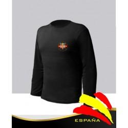 Camiseta Negra Manga Larga Águila