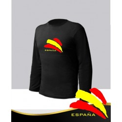 Camiseta Negra Manga Larga España