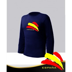 Camiseta Azul Manga Larga España