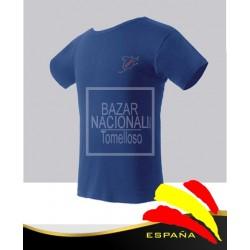 Camiseta Azul Vinilo Mapa UNA