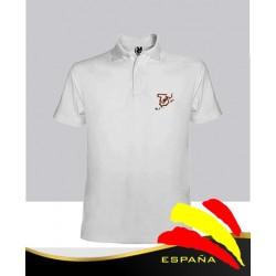 Camiseta Polo Blanca Bordado Mapa de España