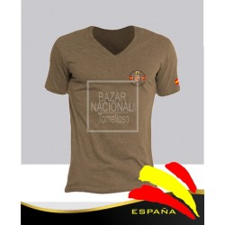 Camiseta Color Tabaco Águila en Bolsillo