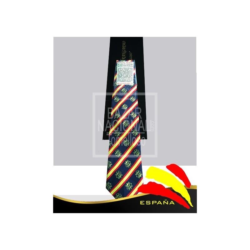 Corbata Azul Marino Francisco Franco en Oro
