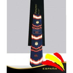 Corbata Azul Marino División Azul y Cinco Flechas