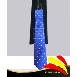 Corbata Azul Royal Banderas Bordadas