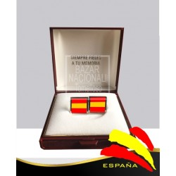 Gemelos Cuadrados Bandera España