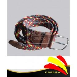 Cinturón Trenzado Marrón Elástico Bandera España