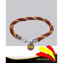 Pulsera Hilo Bandera España Medalla