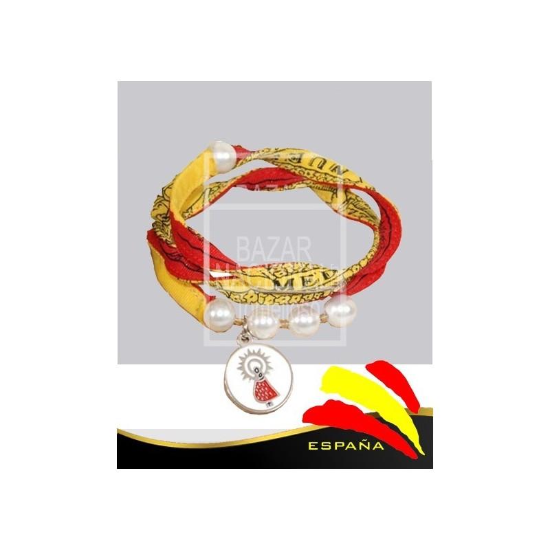 167c9a6a0c7f Pulsera Mujer Medida y Medalla Virgen del Pilar - Bazar Nacional