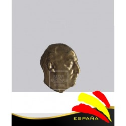 Pin Metálico Busto Francisco Franco Dorado