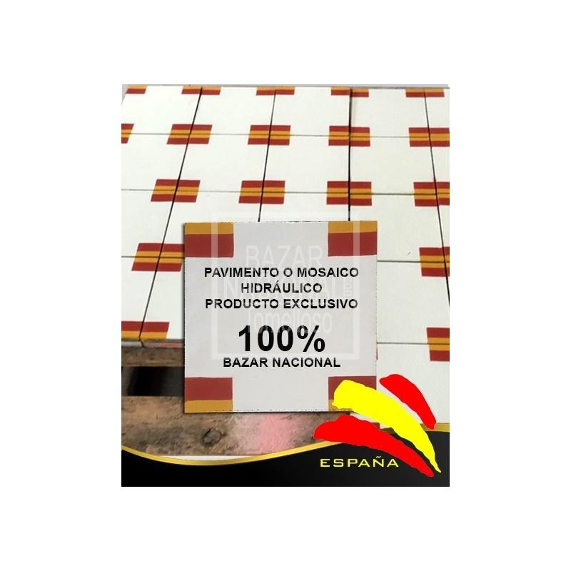 Pavimento Mosaico Hidráulico Bandera España