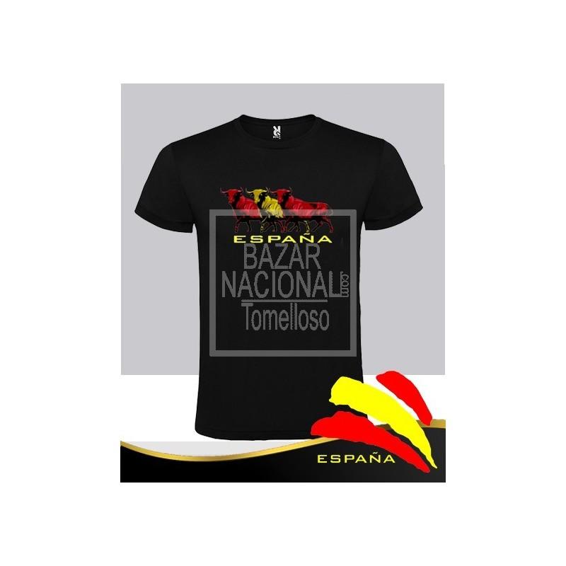 Camiseta Negra 3 Toros