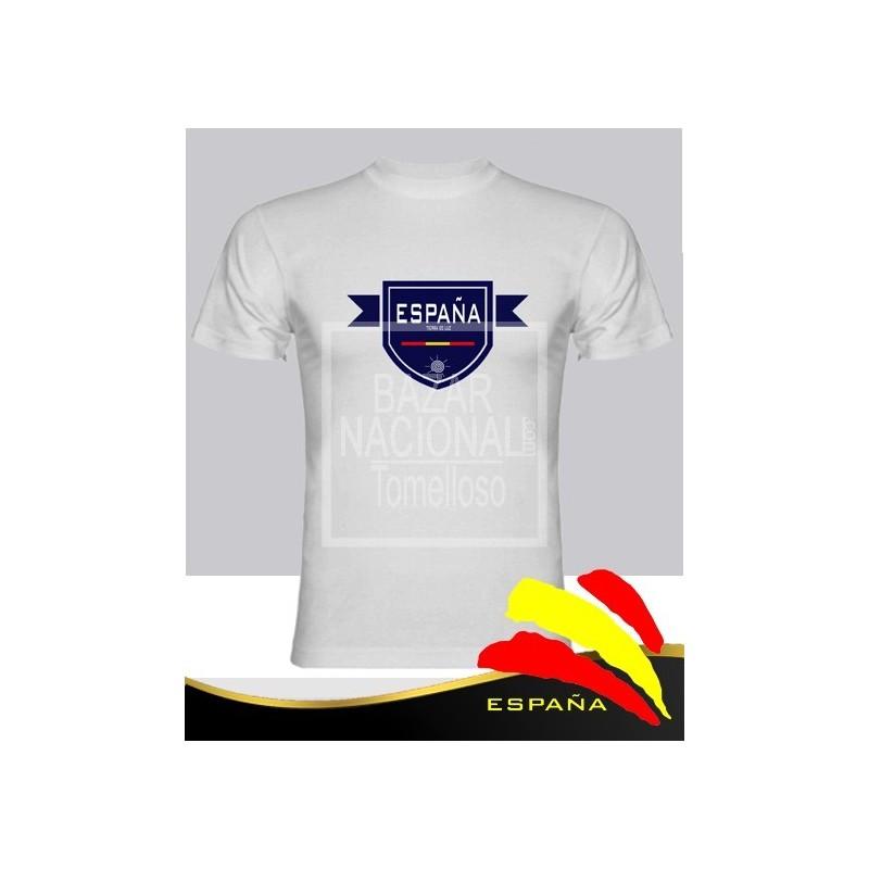 Camiseta Blanca Escudo Azul España