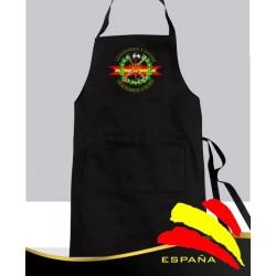 Delantal Negro Legión Española Fondo Negro