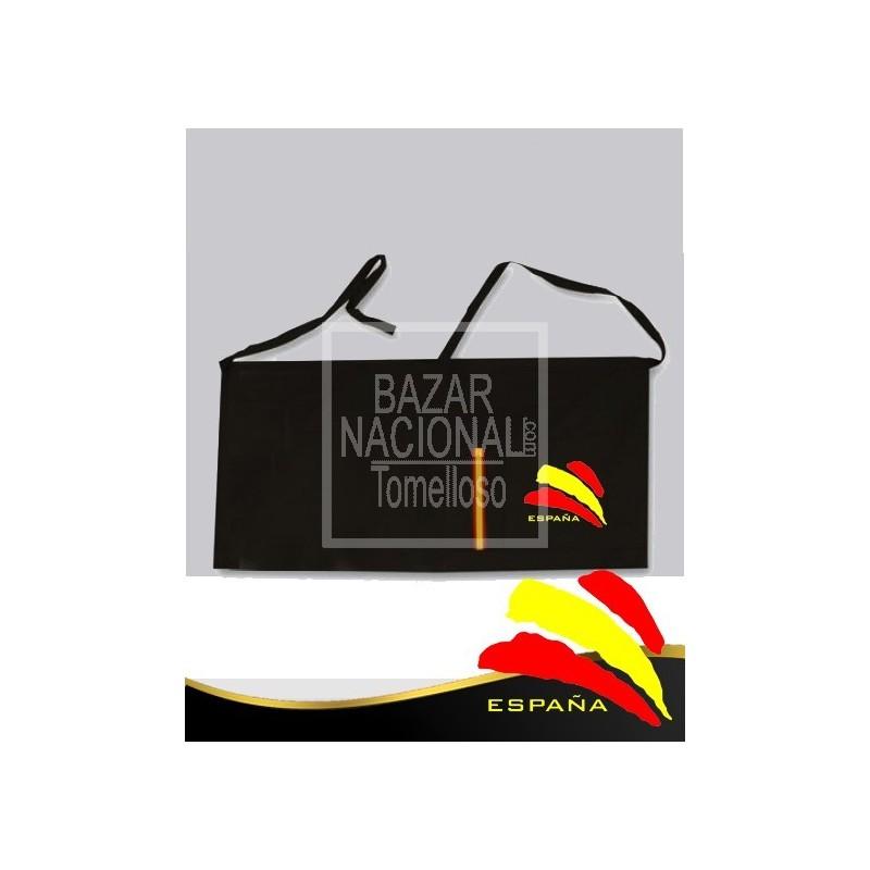 Delantal Negro Camarero Bandera España