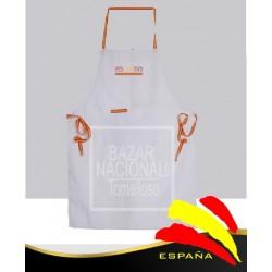 Delantal Blanco Cintas Bandera España Personalizado