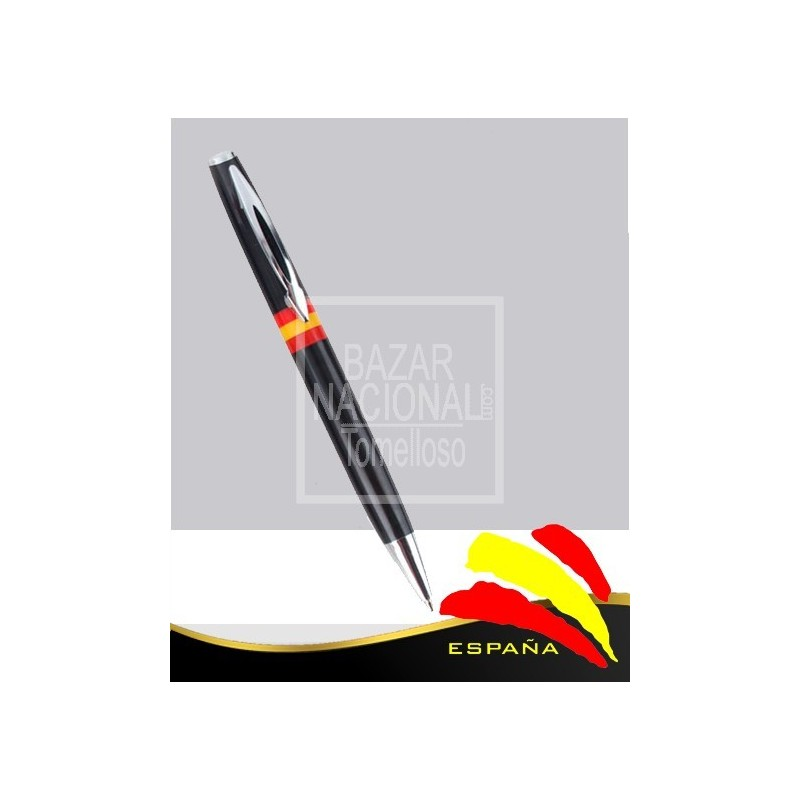 Bolígrafo Negro Bandera de España