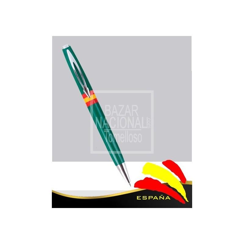 Bolígrafo Verde Bandera de España