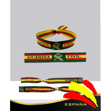 Pulsera Tela Bordada Guardia Civil