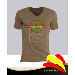 Camiseta color Tabaco Emblema Guardia Civil