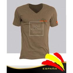 Camiseta Color Tabaco Emblema Legión Española en Bolsillo