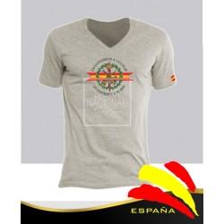 Camiseta Gris emblema Legión Española Central
