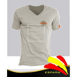 Camiseta Gris emblema Legión Española en Bolsillo