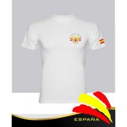 Camiseta Blanca Ejércitos España Bolsillo