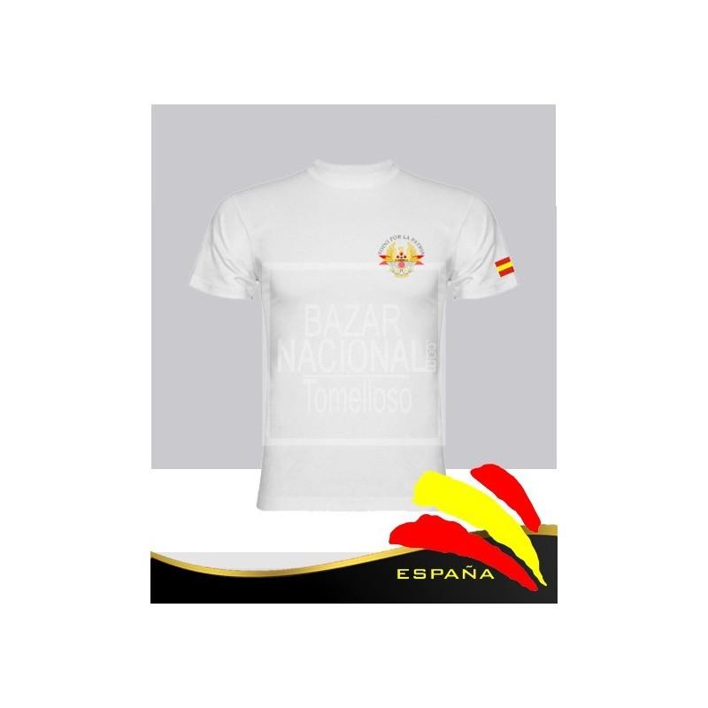 Camiseta Blanca Ejércitos de España en Bolsillo