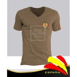 Camiseta Color Tabaco Ejércitos España Bolsillo