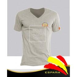 Camiseta Gris Ejércitos España Bolsillo