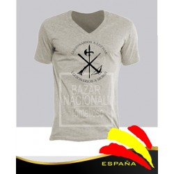 Camiseta Gris Legión Negro Central