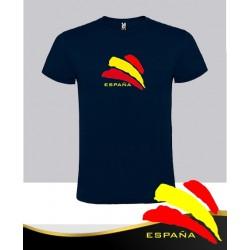Camiseta Azul Marino Bandera Central