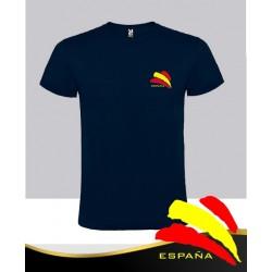 Camiseta Azul Marino Bandera Bolsillo