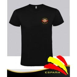 Camiseta Negra Águila Bolsillo