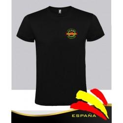 Camiseta Negra Legión España Bolsillo