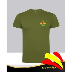 Camiseta verde Guardia Civil Bolsillo