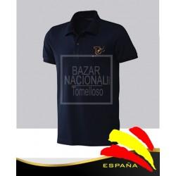 Camiseta Azul Marino Mapa Bordado
