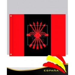 Bandera de Falange Yugo y Flechas 0.75 x 0.50 mtrs.